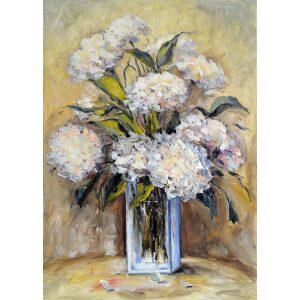 Ksenzsighova - Biele hortenzie